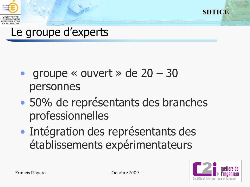 groupe « ouvert » de 20 – 30 personnes
