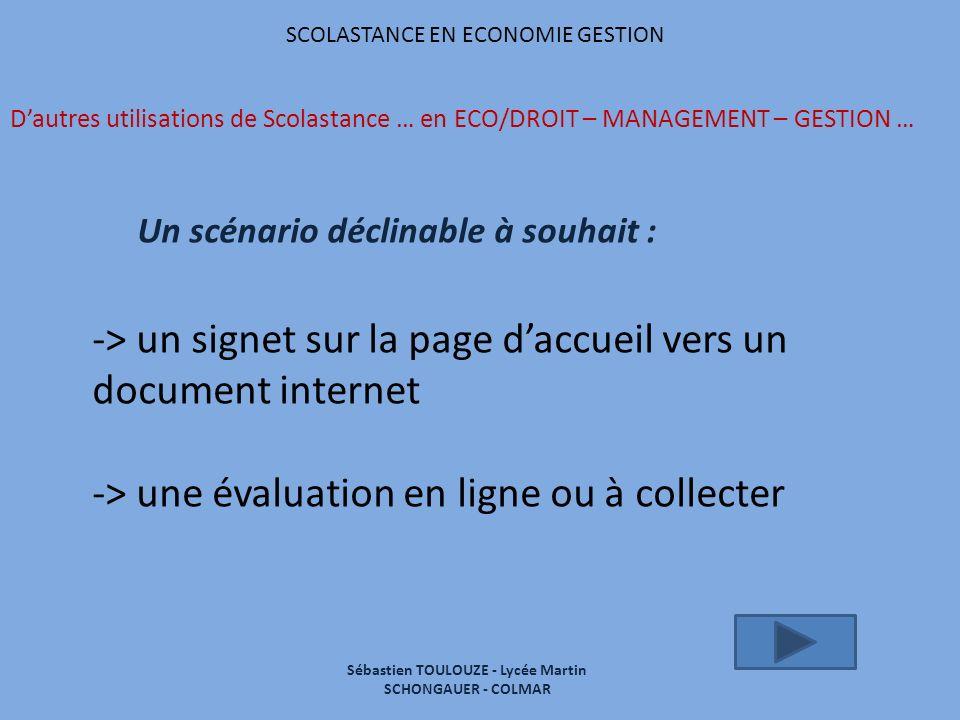 Sébastien TOULOUZE - Lycée Martin SCHONGAUER - COLMAR