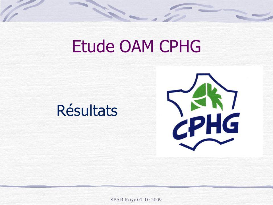 Etude OAM CPHG Résultats SPAR Roye 07.10.2009
