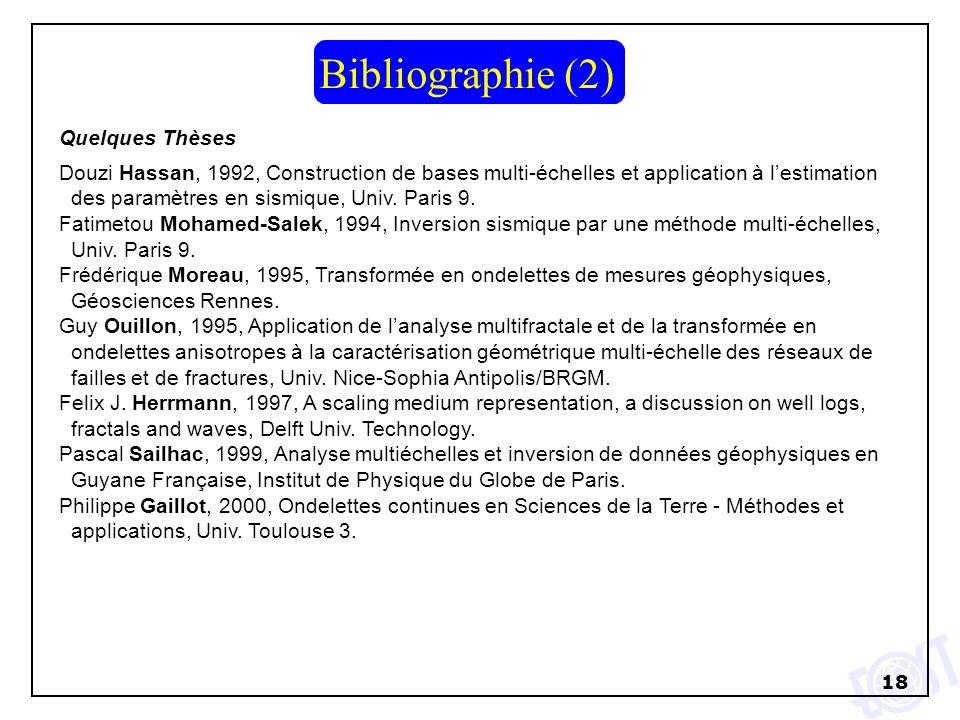 Bibliographie (2) Quelques Thèses
