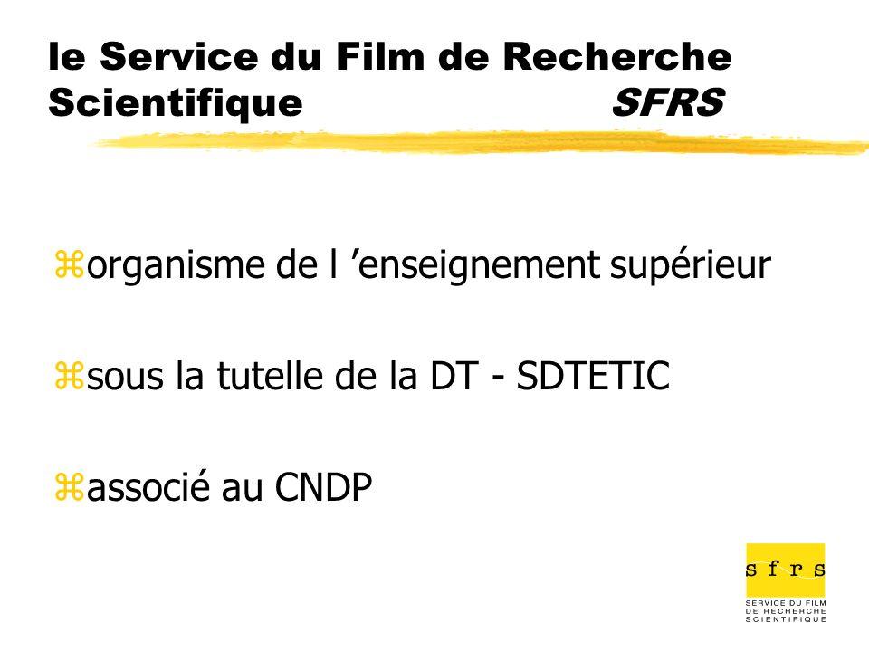 le Service du Film de Recherche Scientifique SFRS