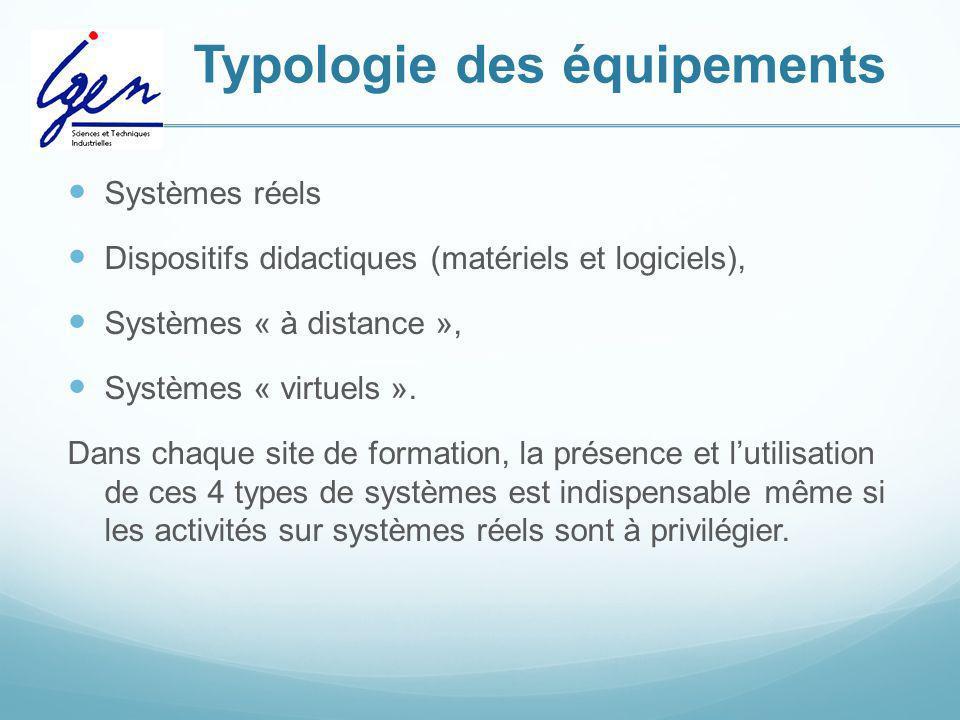 Typologie des équipements