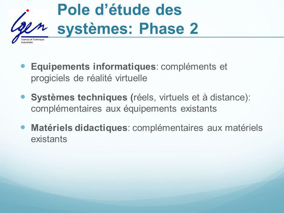 Pole d'étude des systèmes: Phase 2