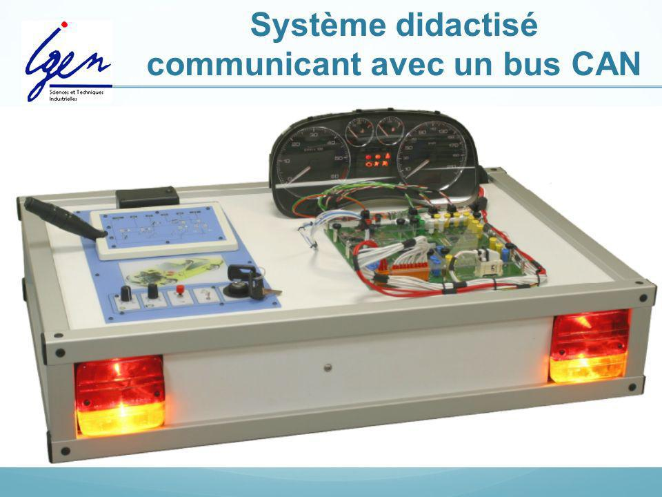 Système didactisé communicant avec un bus CAN