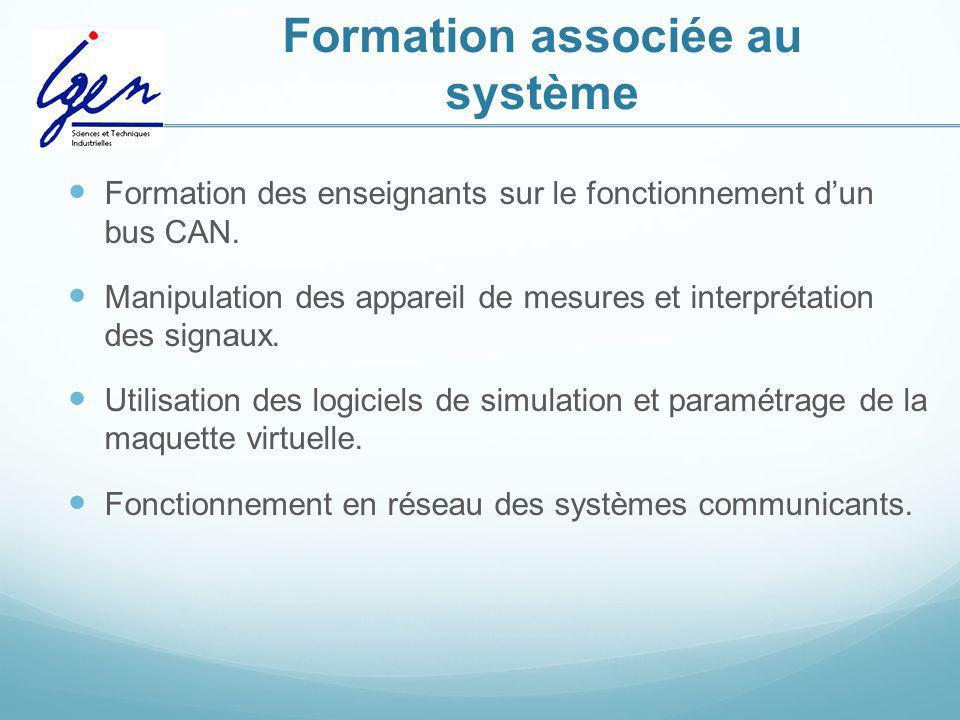 Formation associée au système