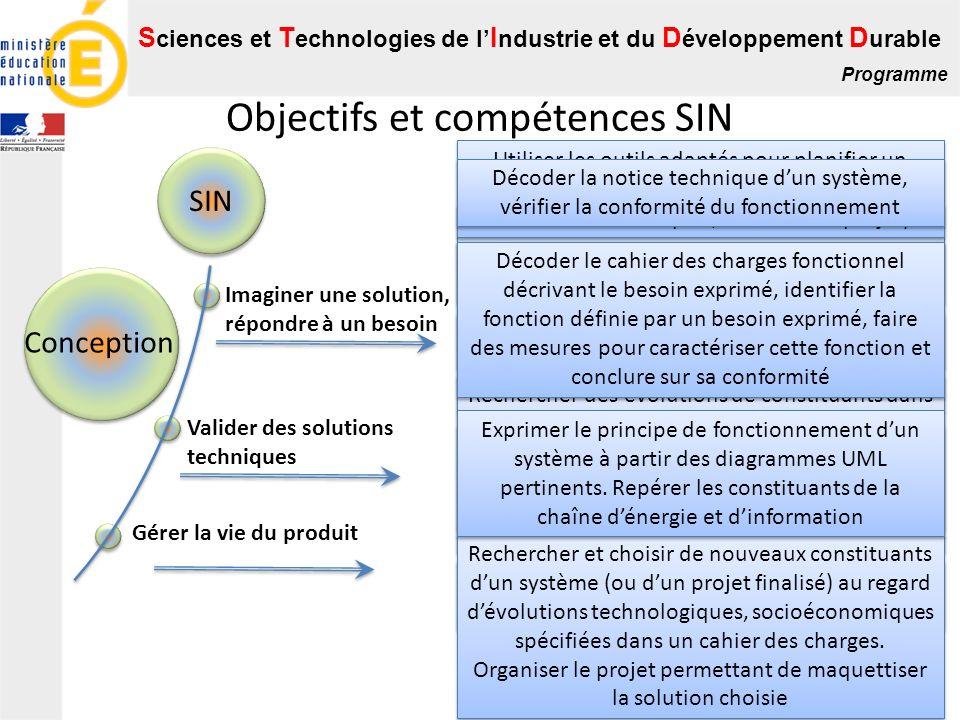 Objectifs et compétences SIN