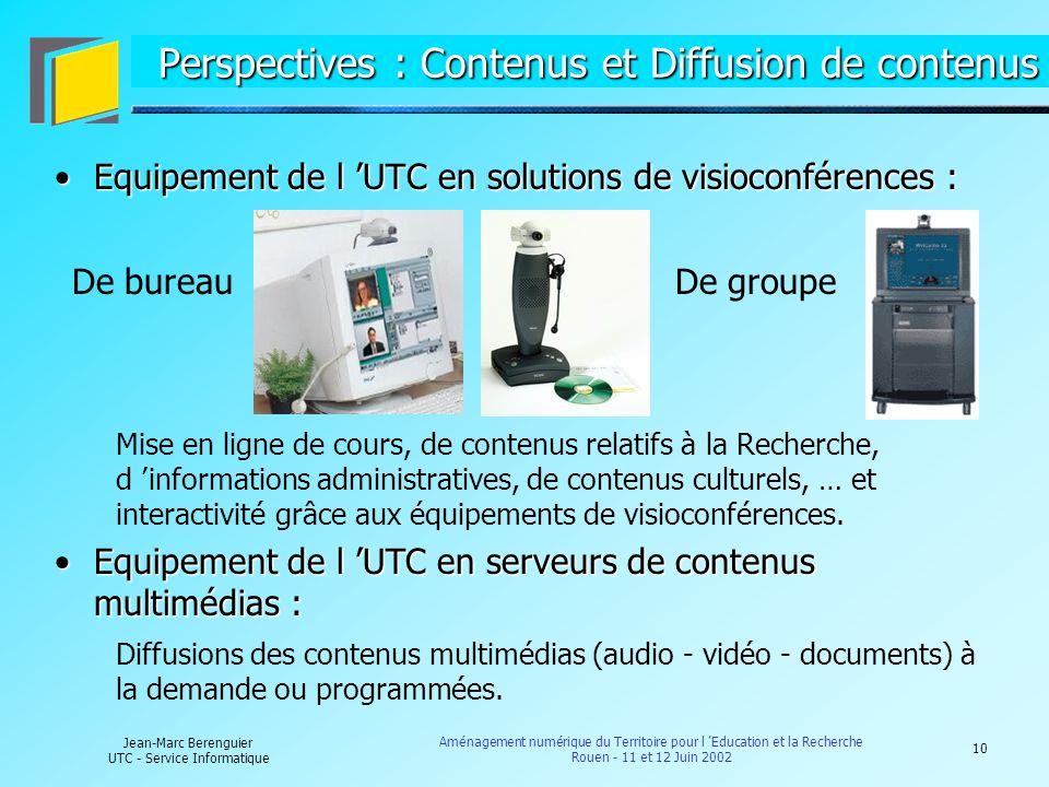 Perspectives : Contenus et Diffusion de contenus