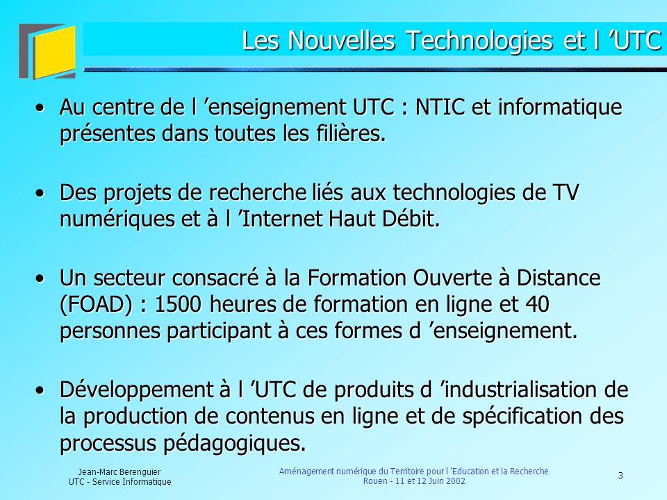 Les Nouvelles Technologies et l 'UTC