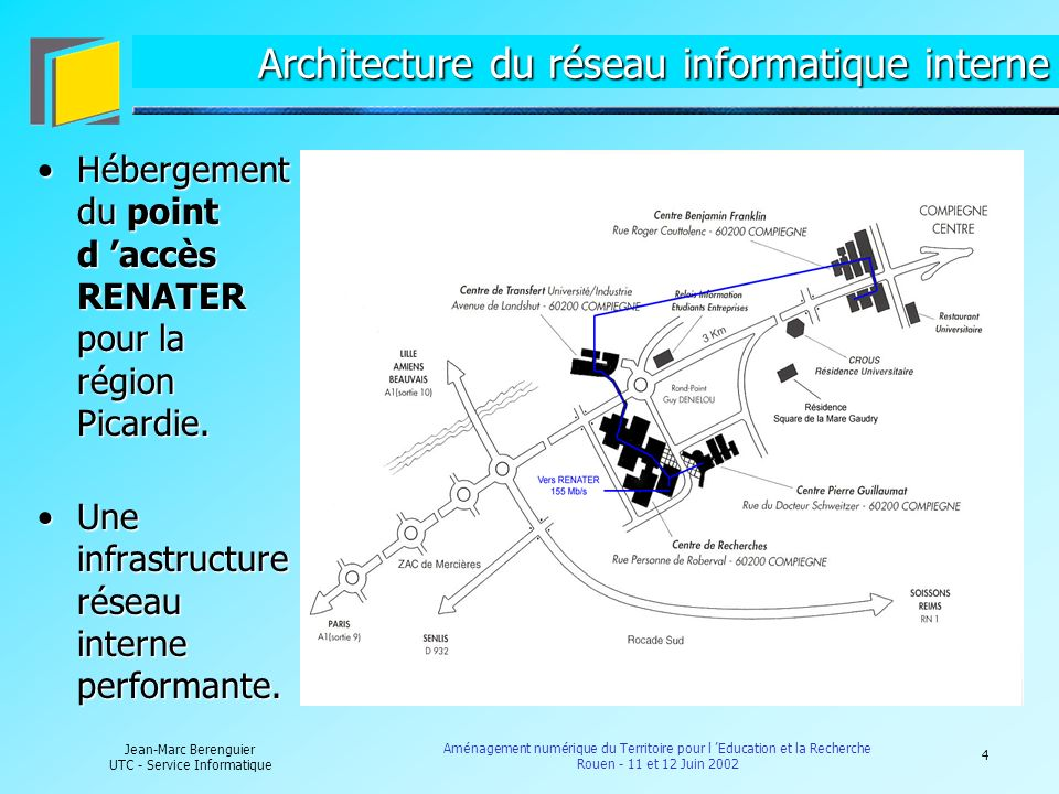 Architecture du réseau informatique interne