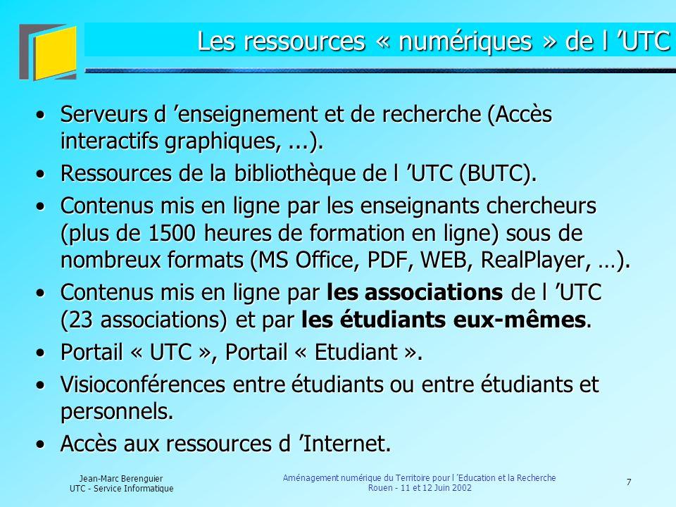 Les ressources « numériques » de l 'UTC