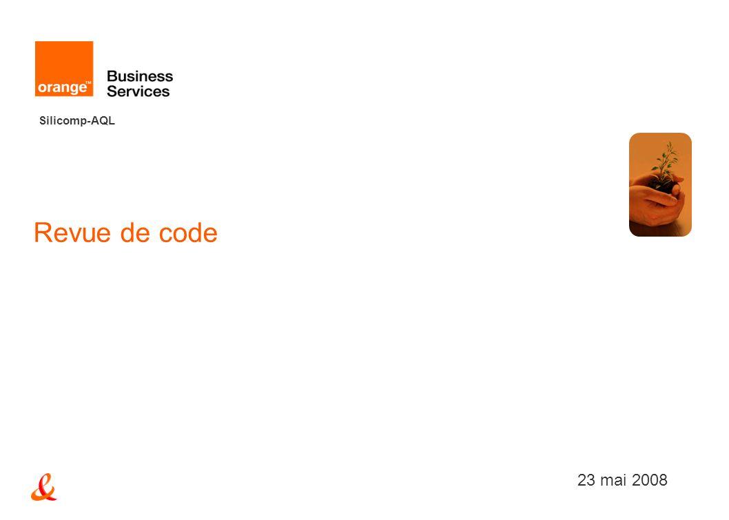 Revue de code 23 mai 2008