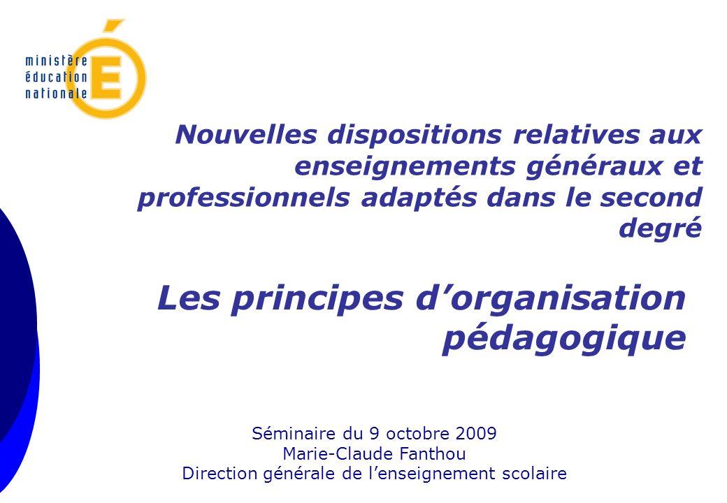 Marie-Claude Fanthou Direction générale de l'enseignement scolaire