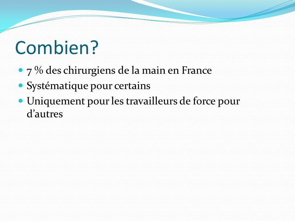 Combien 7 % des chirurgiens de la main en France
