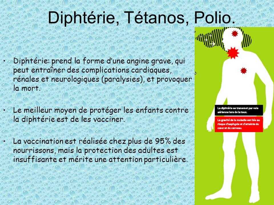 Diphtérie, Tétanos, Polio.