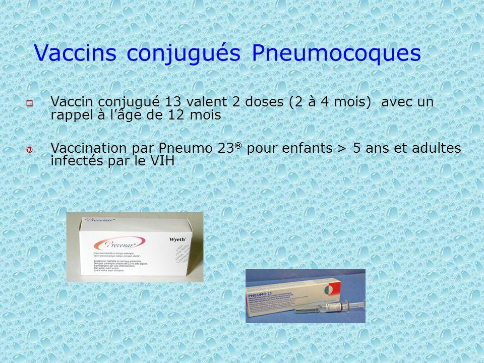 Vaccins conjugués Pneumocoques