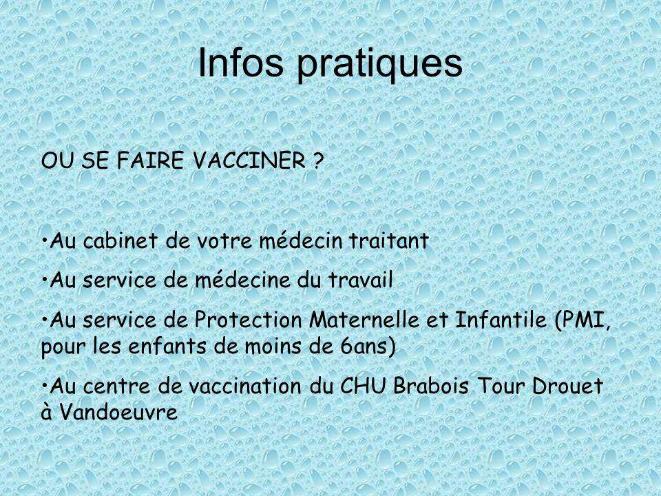 Infos pratiques OU SE FAIRE VACCINER