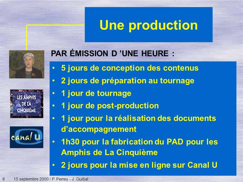 Une production PAR ÉMISSION D 'UNE HEURE :