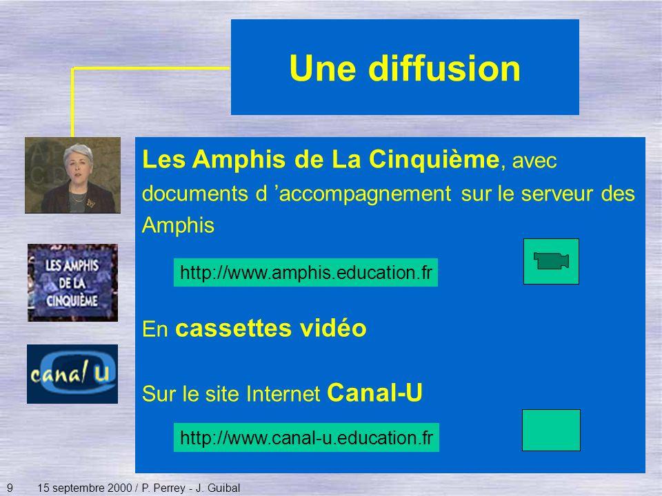 Une diffusion Les Amphis de La Cinquième, avec documents d 'accompagnement sur le serveur des Amphis.