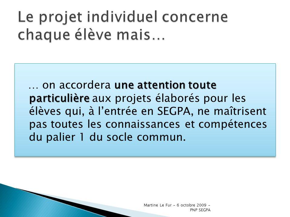 Le projet individuel concerne chaque élève mais…