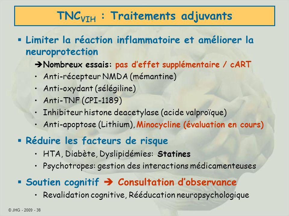 TNCVIH : Traitements adjuvants