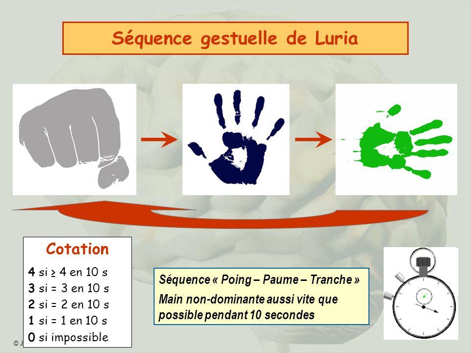 Séquence gestuelle de Luria