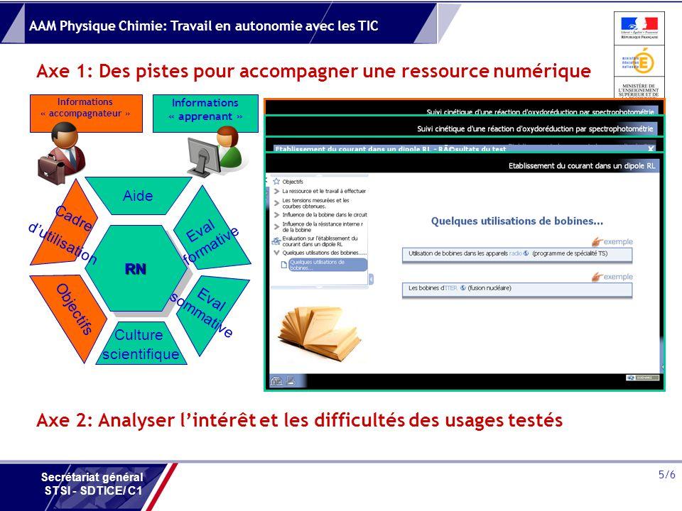 Axe 1: Des pistes pour accompagner une ressource numérique