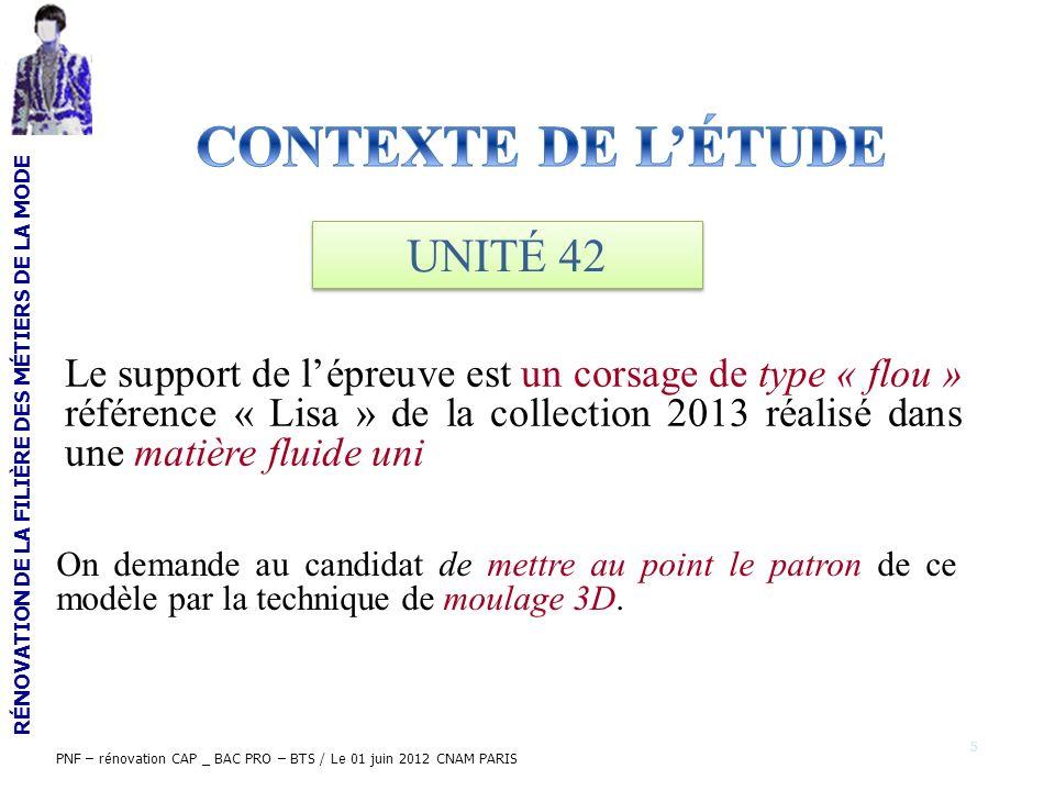 CONTEXTE DE L'ÉTUDE UNITÉ 42