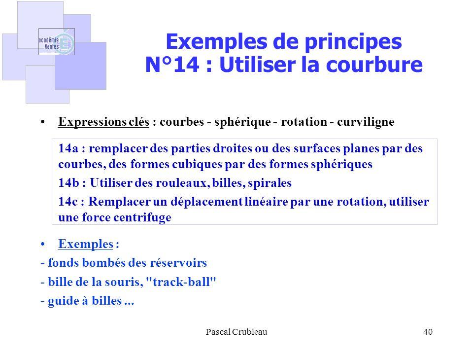 Exemples de principes N°14 : Utiliser la courbure