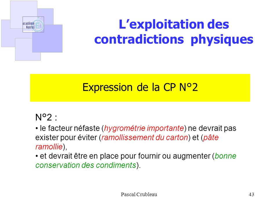 contradictions physiques