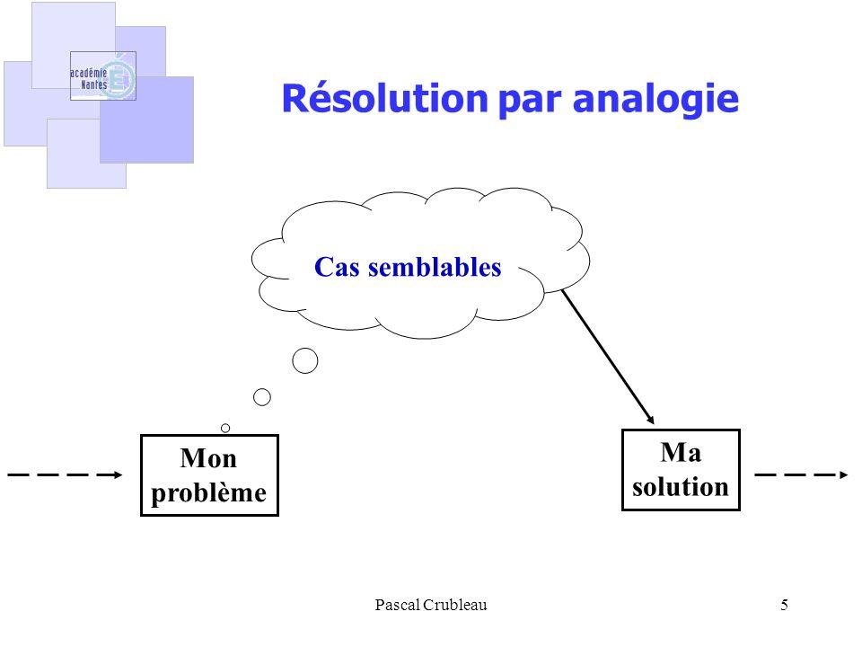 Résolution par analogie