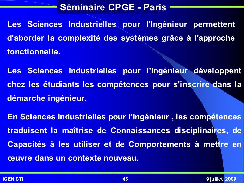 Les Sciences Industrielles pour l Ingénieur permettent d aborder la complexité des systèmes grâce à l approche fonctionnelle.