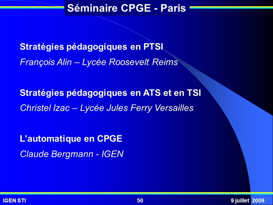 Stratégies pédagogiques en PTSI