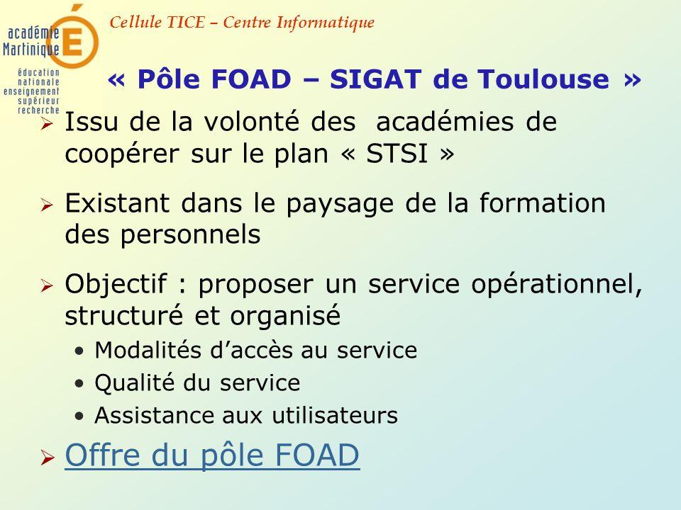 « Pôle FOAD – SIGAT de Toulouse »
