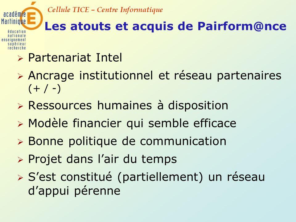 Les atouts et acquis de Pairform@nce