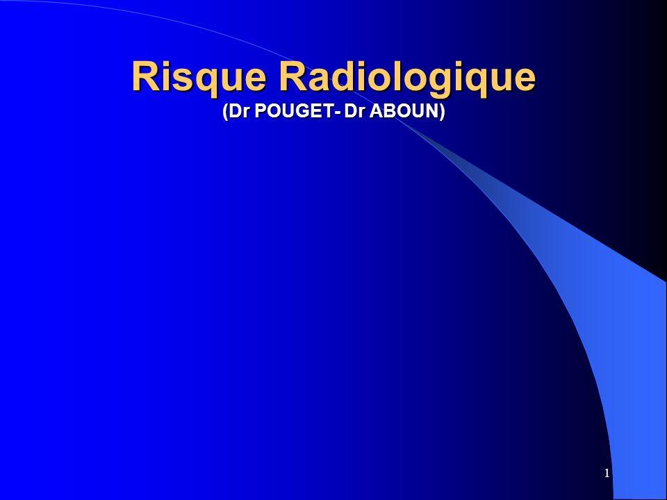 Risque Radiologique (Dr POUGET- Dr ABOUN)