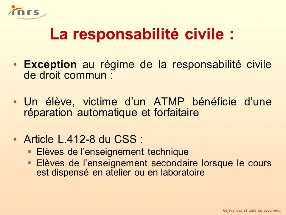 La responsabilité civile :