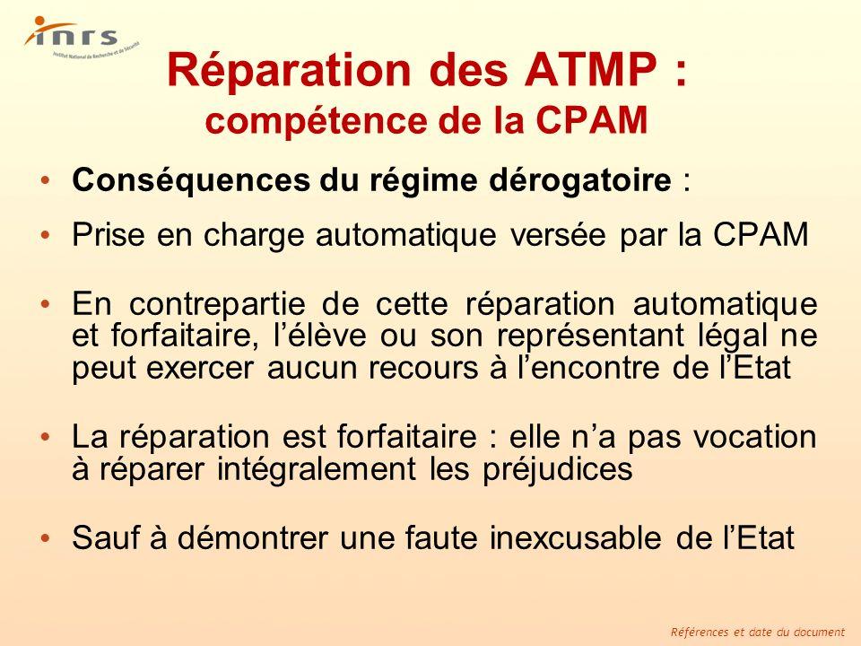 Réparation des ATMP : compétence de la CPAM