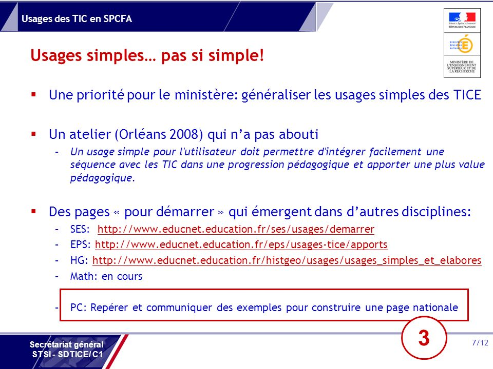 Usages simples… pas si simple!
