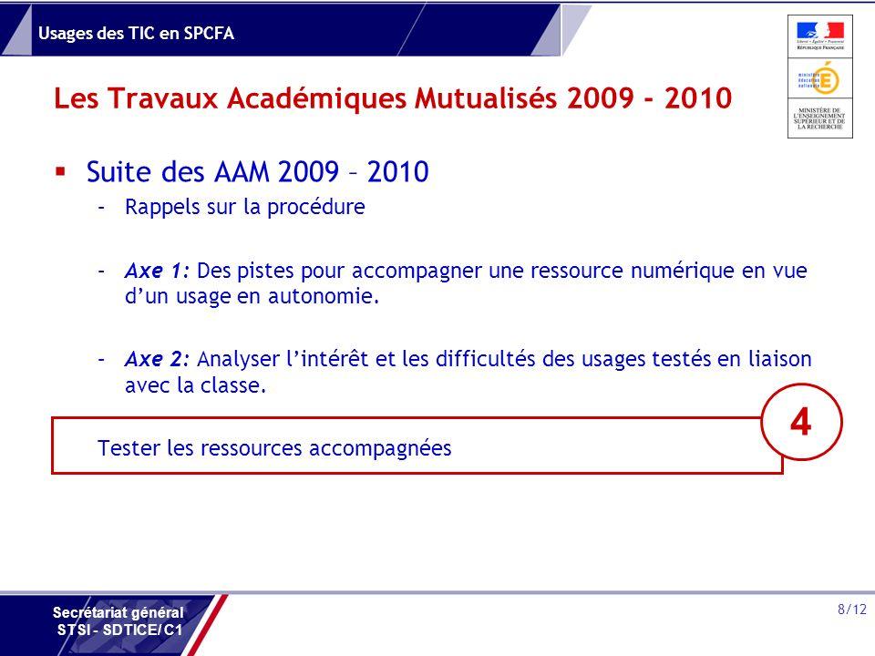 Les Travaux Académiques Mutualisés 2009 - 2010