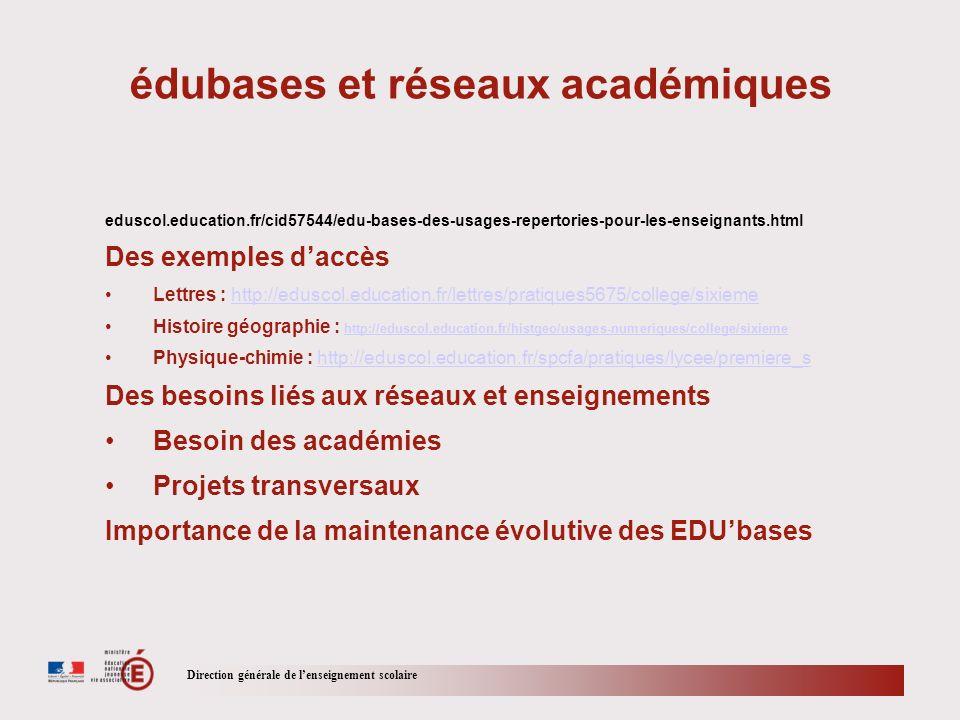 édubases et réseaux académiques