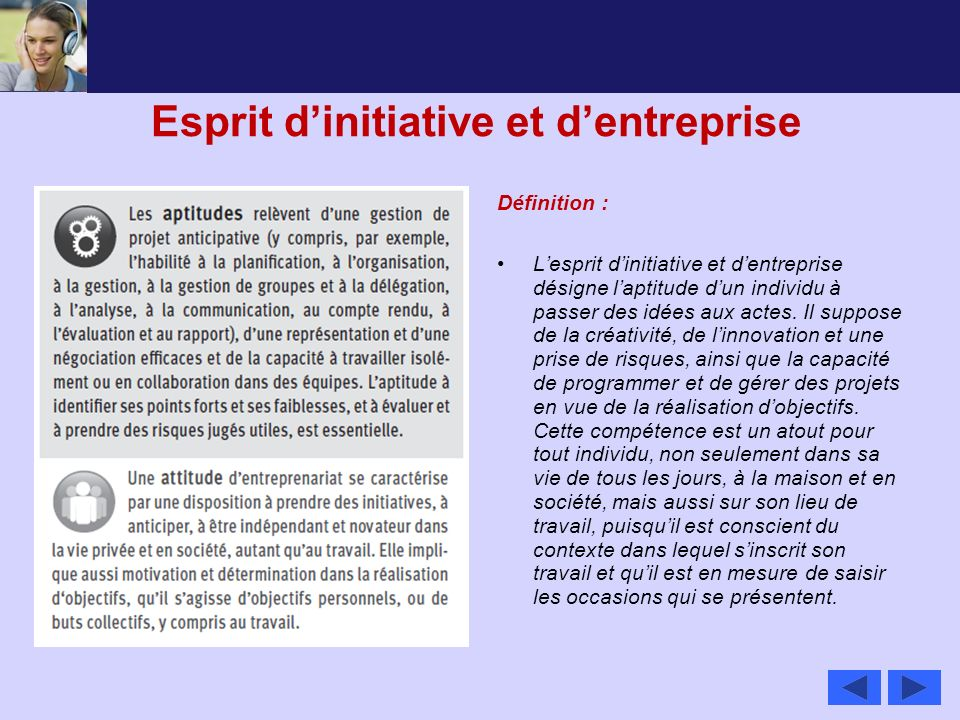 Esprit d'initiative et d'entreprise