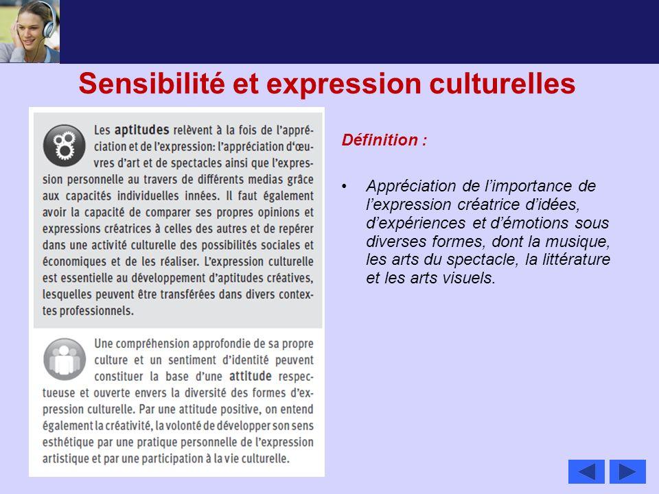 Sensibilité et expression culturelles