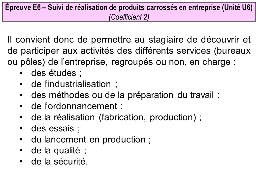 de l'industrialisation ;