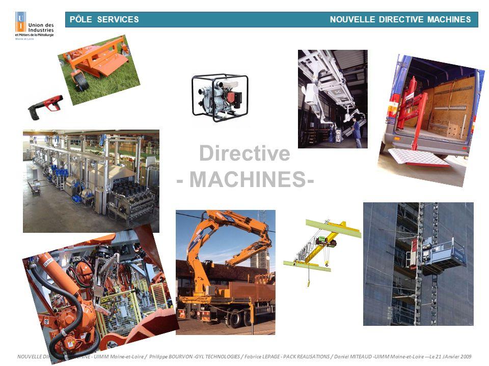Directive - MACHINES- 26/03/2017