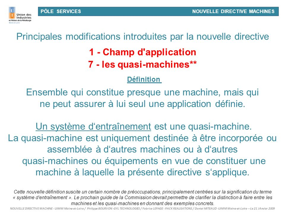 7 - les quasi-machines**