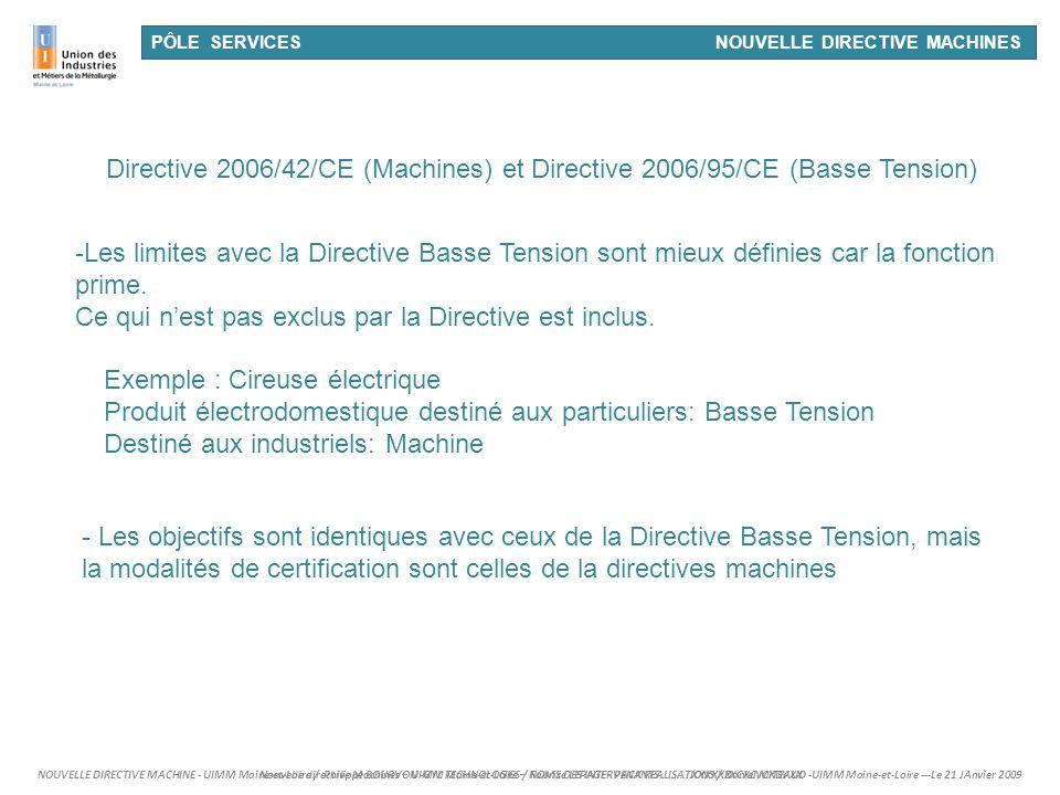 Ce qui n'est pas exclus par la Directive est inclus.