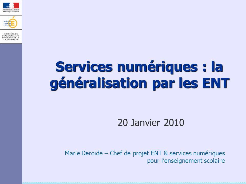 Services numériques : la généralisation par les ENT