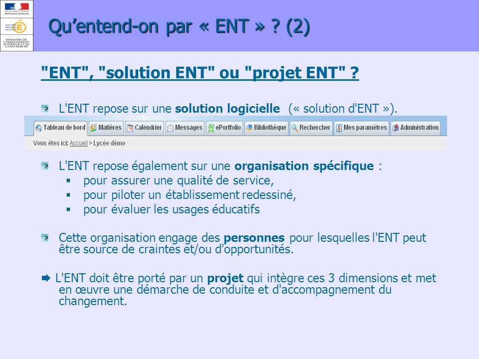 Qu'entend-on par « ENT » (2)