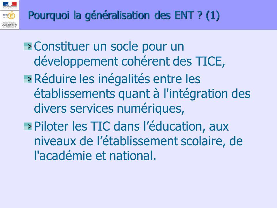 Pourquoi la généralisation des ENT (1)