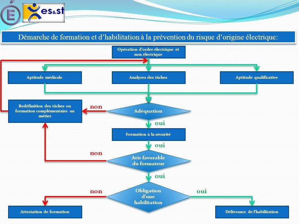 Démarche de formation et d'habilitation à la prévention du risque d'origine électrique: